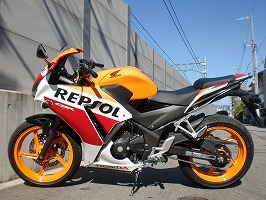 CBR250R-3A後期型ABS,セキュリティ付きREPSOL